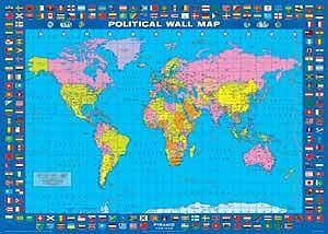 Art print of political map world flags barewalls posters art print of political map world flags gumiabroncs Gallery