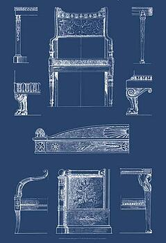 Art print of furniture blueprint iv by vision studio barewalls art print of furniture blueprint iv by vision studio malvernweather