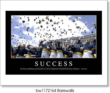 Glass Table Of Success Inspirational Quote And Motivational Poster By Stocktrek Images