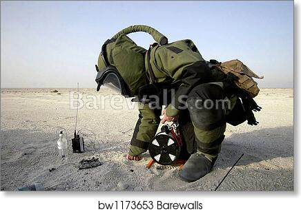 8d980712d4 A technician dressed in a EOD-8 Explosive Ordnance Disposal Suit by  Stocktrek Images, Art Print