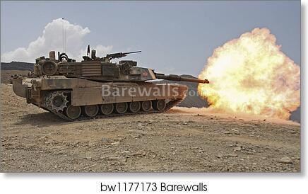 Many Sizes; Firing M1A1 Abrams Tank In Djibouti Poster