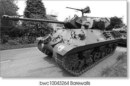 World War 2 Tank art print poster