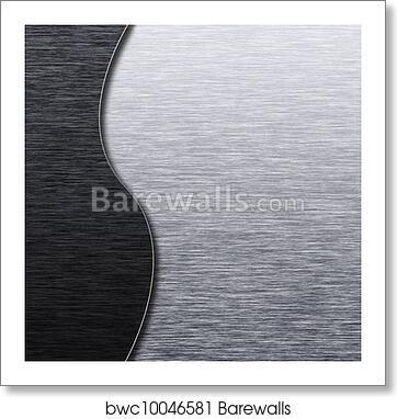 art print of brushed metal texture template barewalls posters