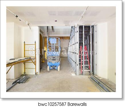 Art Print of Drywall and Framing in Construction Site | Barewalls ...
