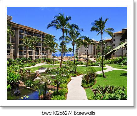 Maui Beach Resort Art Print Poster