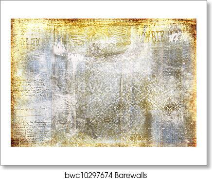 Art Print Of Grunge Denim Faded Background Barewalls Posters