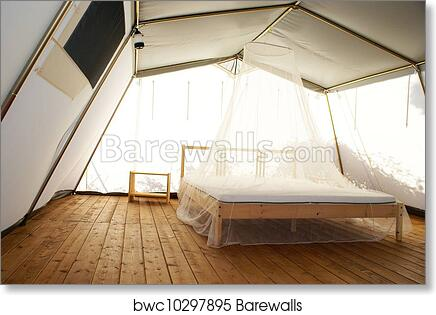 art print of inside a large luxurious tent barewalls posters prints bwc10297895