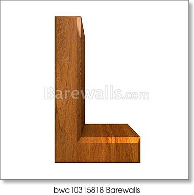 3d letter l in wood art print barewalls posters prints bwc10315818 barewalls