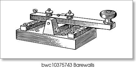 Morse key art print poster
