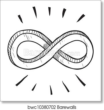 Art Print Of Infinity Symbol Sketch Barewalls Posters Prints