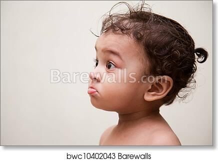 art print of surprised indian baby boy barewalls posters prints