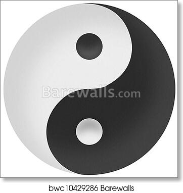 Art Print Of Yin Yang Symbol Of Harmony And Balance By Recycled