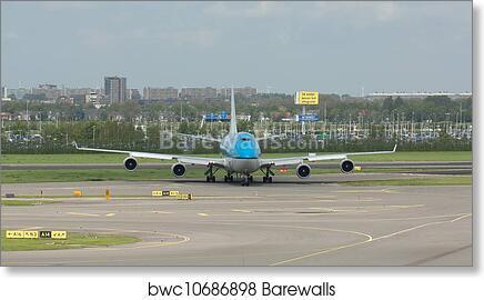 AIRPLANE KLM ROYAL DUTCH AIRLINES SHIP NETHERLANDS TRAVEL VINTAGE POSTER REPRO