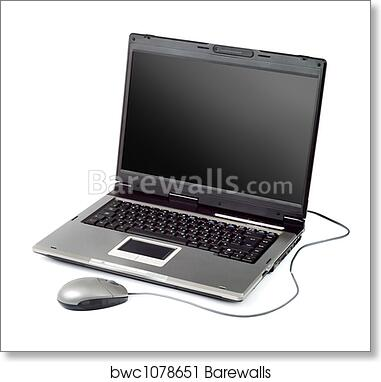 Art Print of High-end laptop computer with mouse | Barewalls Posters ...