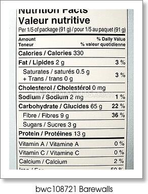 art print of nutrition label barewalls posters prints bwc108721