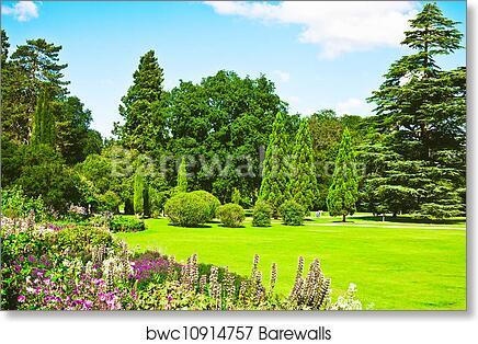 Charmant Art Print Of English Garden