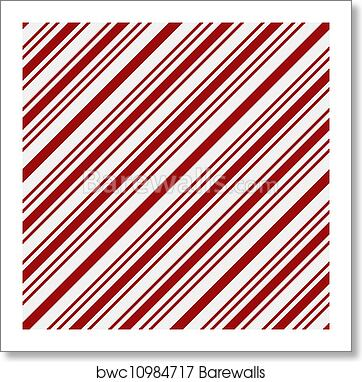 Art Print Of Red And White Striped Fabric Background Barewalls