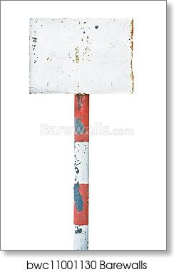 Old Rusty Metal Sign With A Art//Canvas Print Poster Home Decor C Wall Art