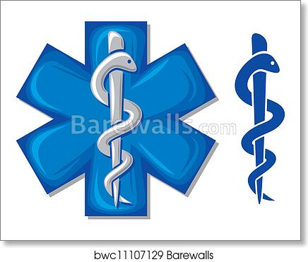 Art Print Of Medical Symbol Caduceus Snake Barewalls Posters