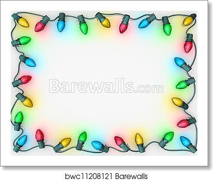 christmas lights border art print barewalls posters prints bwc11208121 christmas lights border art print poster