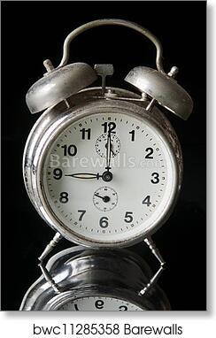 Old clock art print poster