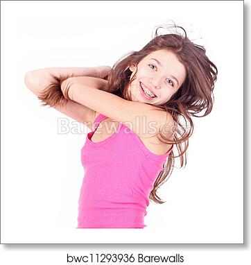 Free art print of Beautiful young teen girl with brackets