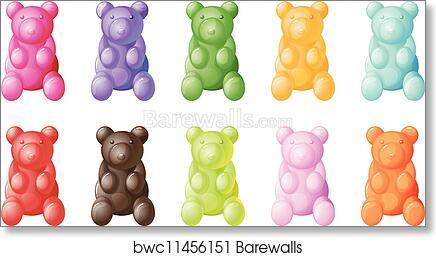 Art Print Of Gummy Bears Barewalls Posters Prints Bwc11456151
