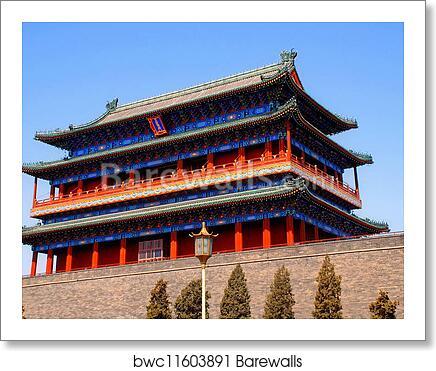 Art Print Of Ancient Qianmen Gate In Forbidden CityBeijing China