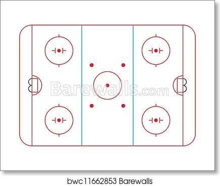 Art Print Of Hockey Rink Barewalls Posters Prints Bwc11662853