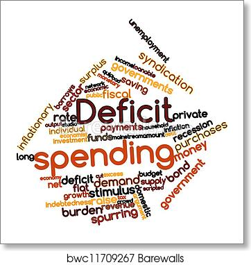 art print of deficit spending barewalls posters prints bwc11709267