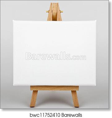 Art Print Of Canvas On Easel Barewalls Posters Prints Bwc11752410
