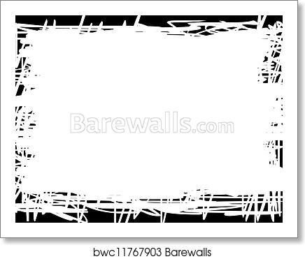 art print of white background with black border