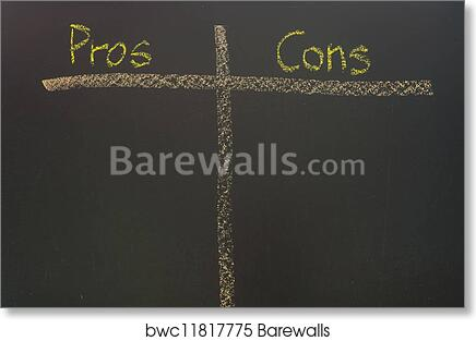Art Print Of Pros And Cons List Barewalls Posters Prints