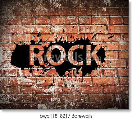 Art Print Of Grunge Rock Music Poster