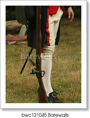 Colonial Soldier art print poster