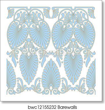 art print of seamless greek art nouveau pattern barewalls posters