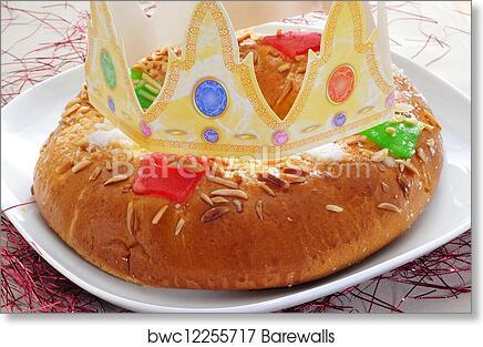 Remarkable Roscon De Reyes Spanish Three Kings Cake Art Print Barewalls Funny Birthday Cards Online Inifodamsfinfo