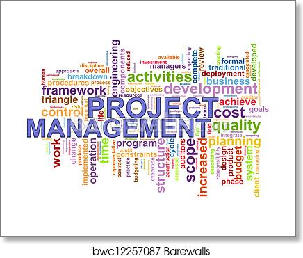 art print of project management word tags barewalls posters