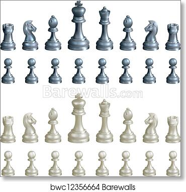 photograph regarding Printable Chess Pieces identify Chess areas mounted artwork print poster