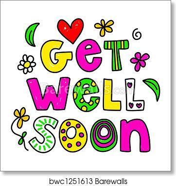 art print of get well soon