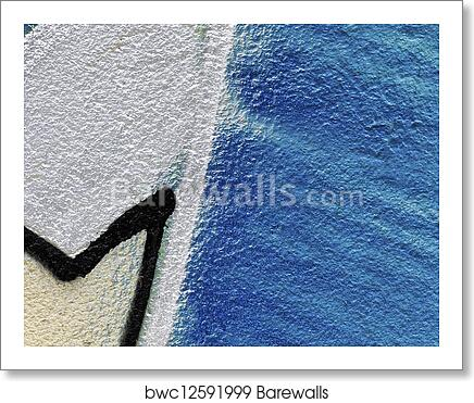 Close Up Shot Of Spray Painting On Wall Art Print Poster
