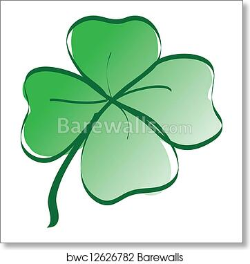 art print of lucky four leaf clover - Clover Color