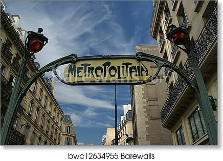 Art Print of Famous Paris Metro Sign, France | Barewalls Posters ...