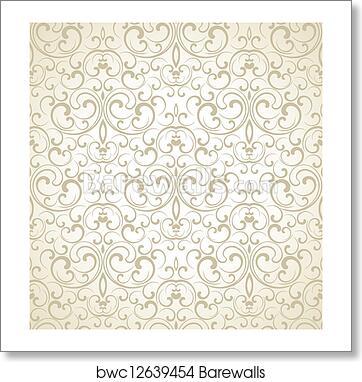 Seamless Wedding Card Background Art Print Barewalls Posters