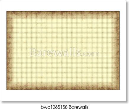 Art Print Of Grunge Graph Paper Barewalls Posters Prints