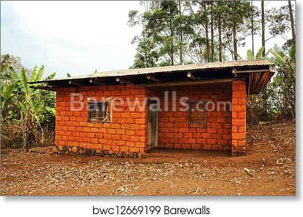 African House Made Of Red Earth Bricks Art Print Barewalls