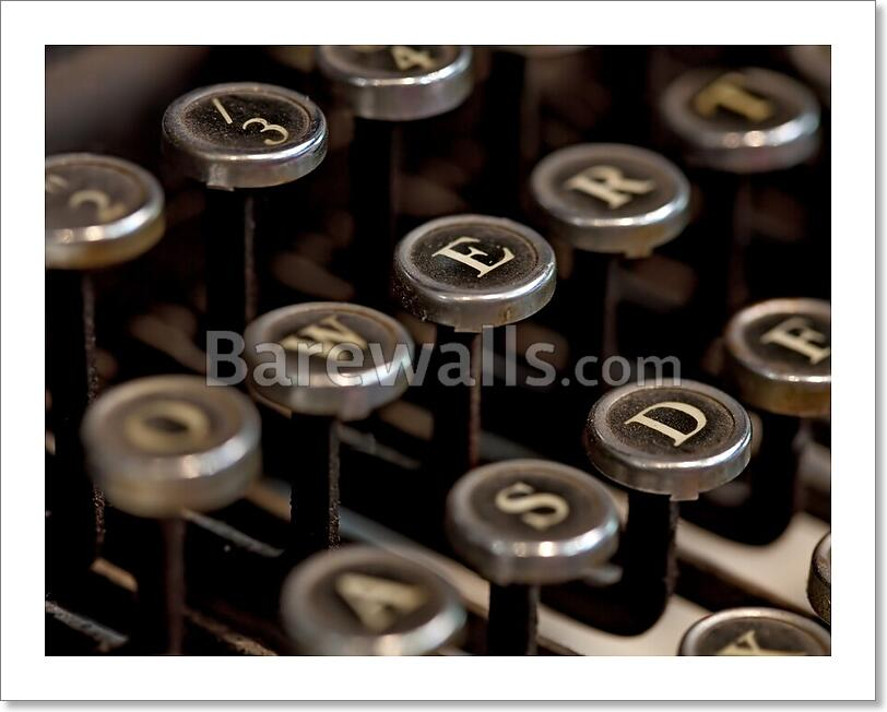 Details about Vintage Typewriter Art Print/Canvas Home Decor Wall Art  Poster - I