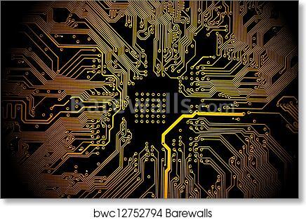 Art Print of Printed circuit board | Barewalls Posters & Prints ...