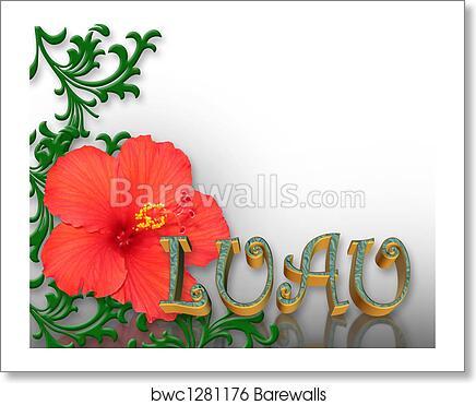 art print of luau invitation background barewalls posters prints