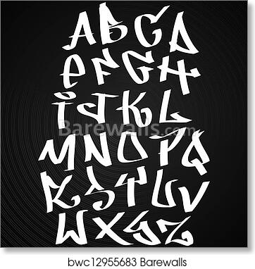 Graffiti Font Alphabet Letters Hip Hop Type Grafitti Design Art